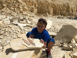 Fossil Digging in Kemmerer Wyoming